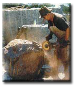 Richard Williamson working at his family business, Floating Stones